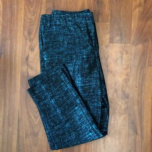 New Blue & Black Metallic Express Dress Pants